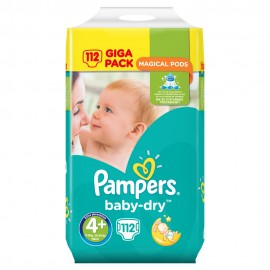 Pampers Baby Dry Magical Pods Maxi+ Giga-Pack No4+ (9-18 κιλά) 112τμχ