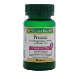 Nature's Bounty Prenatal Πολυβιταμίνη για Εγκύους με Φολικό Οξύ 30 Tαμπλέτες