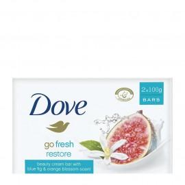Dove Go Fresh Restore Blue Fig & Orange Blossom Scent Σαπούνι 2x100gr