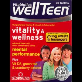 Vitabiotics Wellteen Vitality & Wellness Συμπλήρωμα Διατροφής για Παιδιά και Εφήβους 30Tabs
