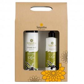 SempreViva Promo Shower Bath Olive Αφρόλουτρο 400ml & Body Lotion Olive Γαλάκτωμα Σώματος 250ml