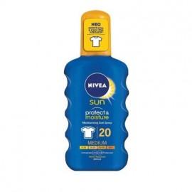 Nivea Sun Protect & Moisture SPF20 Αντηλιακό Ενυδατικό Σπρέι για Σώμα/Πρόσωπο 200ml