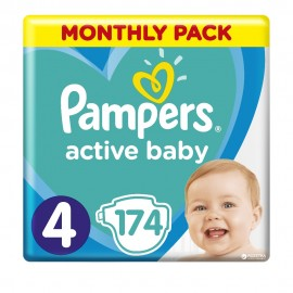 Pampers Active Baby Dry No4 (9-14kg) 174Τμχ