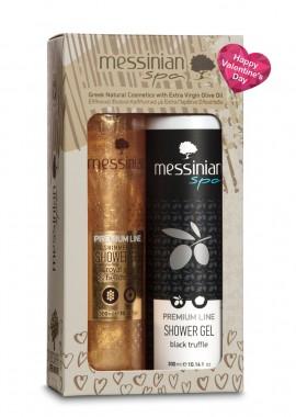 Messinian Spa Promo Premium Line Shimmering Shower Gel Βασιλικός Πολτός & Ελίχρυσος 300ml & Shower Gel Black Truffle 300ml