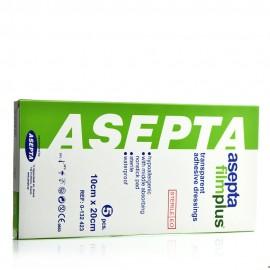 Asepta Filmplus, Διαφανή Αυτοκόλλητα Επιθέματα 10cm x 20cm 5τμχ