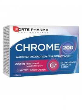Forte Pharma Chrome 200, Συμπλήρωμα Διατροφής για την Απώλεια Βάρους 30tabs