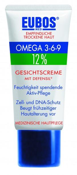 Eubos Omega 3-6-9 Face Cream με Defensil, Καταπραϋντικό Γαλάκτωμα Προσώπου 50ml