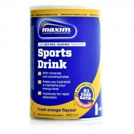 Maxim Sports Drink, Υποτονικό Διάλυμα με Γεύση Πορτοκάλι 480gr