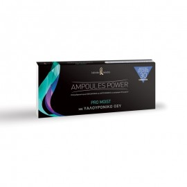 Individual Cosmetics Ampoules Power Pro Moist, Επαγγελματική Αγωγή Ενυδάτωσης & Αντιγήρανσης 10x2ml