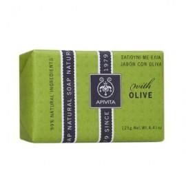 Apivita Natural Soap Σαπούνι με Ελιά για τις ξηρές επιδερμίδες 125gr