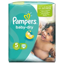 Pampers Baby Dry Junior No5 (11-25 kg) 23 τεμαχίων