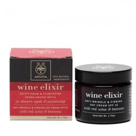 Apivita Wine Elixir Αντιρυτιδική & Συσφιγκτική Κρέμα Ημέρας SPF15 Κόκκινο Κρασί-Μελισσοκέρι 50ml
