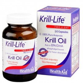 Health Aid Krill-Life Ω3 Λιπαρά Οξέα 90caps 500mg