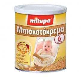 Milupa Μπισκοτόκρεμα Βρεφική Κρέμα Δημητριακών με Γάλα,από 6 Μηνών 300gr