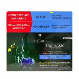 Rene Furterer Promo Triphasic Reactional Ritual Anti-Hair Loss Treatment 12 X 5ml & Stimulating Shampoo 100ml