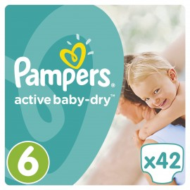 Pampers Active Baby Dry No6 (15+Kg) 42Τμχ
