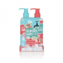 Dirty Works Heavenly Hands, Hand Wash Υγρό Καθαριστικό Χεριών 250ml & Hand Lotion Λοσιόν Χεριών 250ml