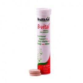 Health Aid B-VITAL Vitamin B Complex, Πολυβιταμίνες, Πνευματική & Σωματική Ενέργεια 20 Tabs