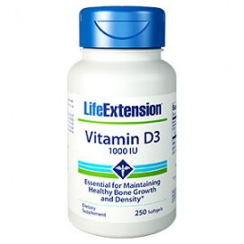 Life Extension Vitamin D3 1000Iu, 250 Μαλακές Κάψουλες