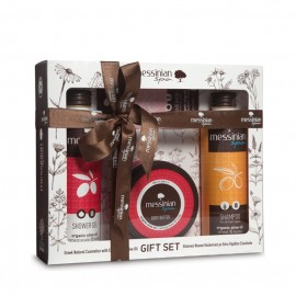 Messinian Spa Shower Gel Pomegranate 300ml + Shampoo All Types Wheat-Honey (σιτάρι-μέλι) 300ml + Body Butter 250ml