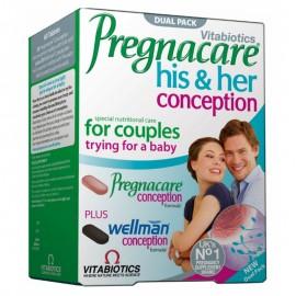 Vitabiotics Pregnacare His & Her Conception, για Ζευγάρια που Προσπαθούν για Μωρό,  60 Tablets