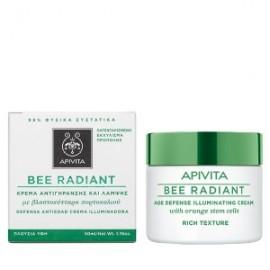 Apivita BEE RADIANT Κρέμα Αντιγήρανσης & Λάμψης,με Βλαστοκύτταρα Πορτοκαλιού, Πλούσια Υφή 50ml