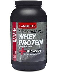 Lamberts Whey protein isolate Banana, Πρωτείνη Ορού Γάλακτος με γεύση Μπανάνα 1000gr