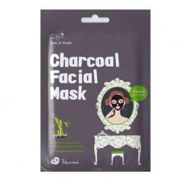 Vican Cettua Charcoal Facial Mask Μάσκα Καθαρισμού & Σύσφιξης Πόρων 1τμχ