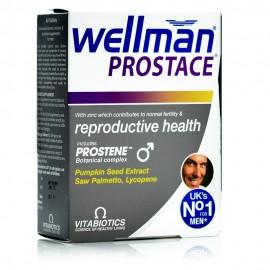 Vitabiotics Wellman Prostace, Συμπλήρωμα Διατροφής για την Καλή Υγεία του Προστάτη 60Tabs