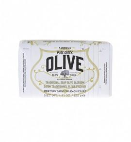 Korres Olive Πράσινο Σαπούνι με Άνθη Ελιάς 125mL