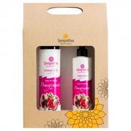 SempreViva Promo Shower Bath Pomegranate Αφρόλουτρο 400ml & Body Lotion Pomegranate Γαλάκτωμα Σώματος 250ml