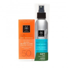 Apivita Promo Suncare Anti-Wrinkle Face Cream SPF50 & ΔΩΡΟ Greek Mountain Tea Face Water 100ml