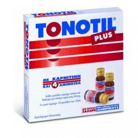 Tonotil Plus με 4 Αμινοξέα και Καρνιτίνη, 10 φιαλίδια 10ml
