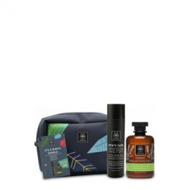 Apivita Promo It' s a Man's World After Shave Balm 100ml & Tonic Mountain Tea Shower Gel 300ml
