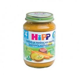 Hipp Βοδινό με πατάτες και καρότα βιολογικής καλλιέργιας 4 μηνών+ 190gr