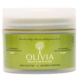 Olivia Body Butter Cotton, Κρέμα Σώματος Παχύρευστη με Ελαιόλαδο-Αμυγδαλέλαιο που Μαλάκωνει-Ενυδατώνει, 200ml