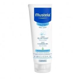 Mustela 2 in 1 Cleansing Gel Βρεφικό-Παιδικό Τζελ Καθαρισμού για Σώμα και Μαλλιά 200ml