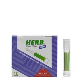 HERB Micro Filter Slim Πίπες με φίλτρο από φυτικά εκχυλίσματα και ένζυμα 12 τεμάχια