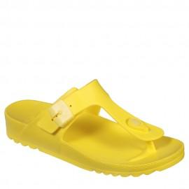 Scholl Bahia Flip-Flop Fluo Yellow Ανατομικό Σανδάλι Νο39