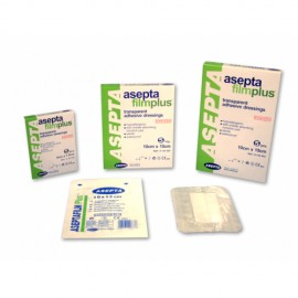 Asepta Filmplus, Διαφανή Αυτοκόλλητα Επιθέματα 10cm x 25cm 5τμχ