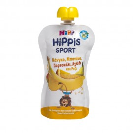 Hipp Hippis Sport Βιολογικό Παρασκέυασμα Φρούτων με Ρυζάλευρο Μάνγκο, Μπανάνα, Πορτοκάλι, Αχλάδι & Ρύζι 120gr