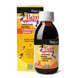 Inoplus Bon Appetite 4 Kids, Τονωτικό Σιρόπι με Βασιλικό Πολτό για Παιδιά, 150ml