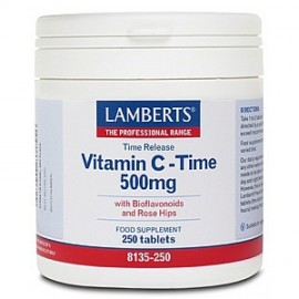 Lamberts Vitamin C-Time Release 500mg, 250 Tabs