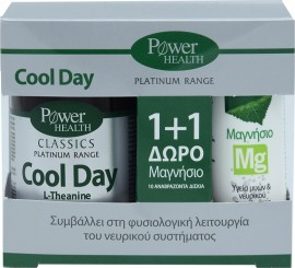 Power Health Promo Classics Platinum Cool Day L-Theanine 30Tabs & ΔΩΡΟ Μαγνήσιο 10Αναβράζοντα