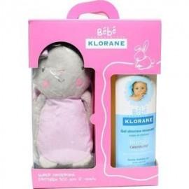 Klorane Πακέτο 1+1 Bebe Girl Gel Douceur Moussant, Βρεφικό Παιδικό Αφρόλουτρο για Σώμα-Μαλλιά 500ml