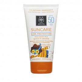 Apivita Suncare Kids Protection Face & Body SPF50 Παιδικό Αντηλιακό Γαλάκτωμα με Βερύκοκο & Καλέντουλα 150ml