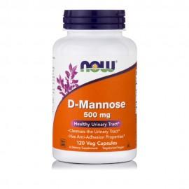 Now Foods D-Mannose Συμπλήρωμα Διατροφής για Το Ουροποιητικό 500mg, 120Veg Capsules