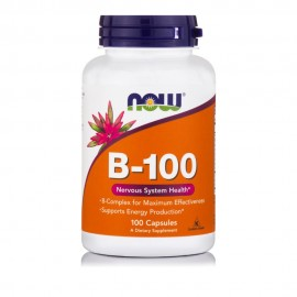 Now Foods Vitamin B-100 Complex, 100 Veg Capsules