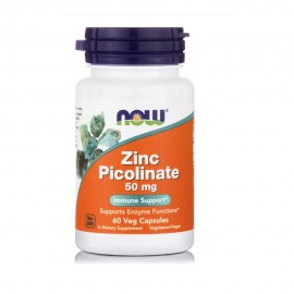 Now Foods Zinc Picolinate Ψευδάργυρος 60Veg Capsules