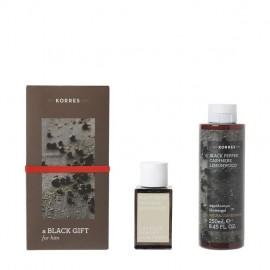Korres Promo Black Pepper Cashmere Lemonwood Eau De Toilette 50ml & Showergel 250ml
